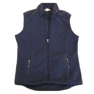 Land's End Navy Blue Fleece Vest Size 7-8 Youth